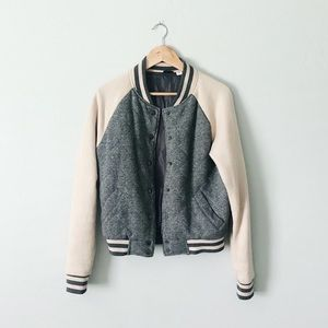 Urban Outfitters Varsity Bomber Sweater Jacket